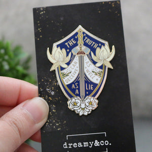 The Truth Can Deceive Enamel Pin - The Winner's Curse