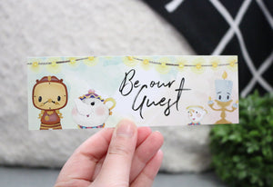 NEW Be Our Guest Bookmark - Beast and Beauty