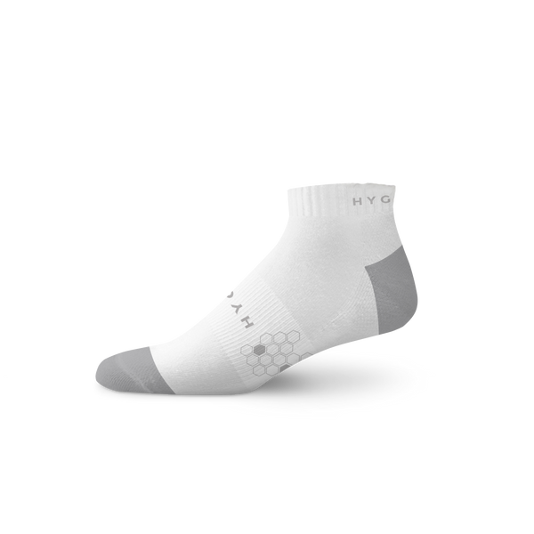 HYGIEIA Men's White Athletic Odor Resistant Sport Socks
