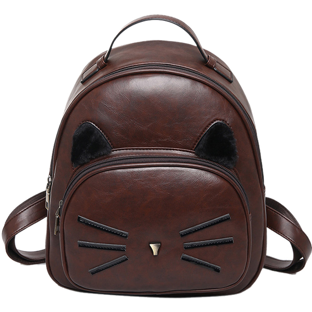 Small Vintage Kitty Design Backpack
