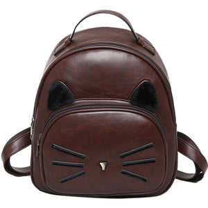Small Vintage Kitty Design Backpack - Kitty Kraze