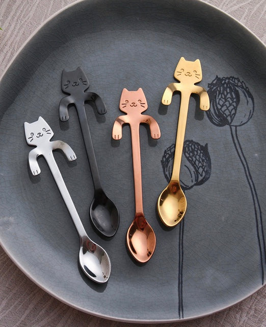 Stainless Steel Cat Spoons