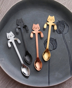 Stainless Steel Cat Spoons - Kitty Kraze