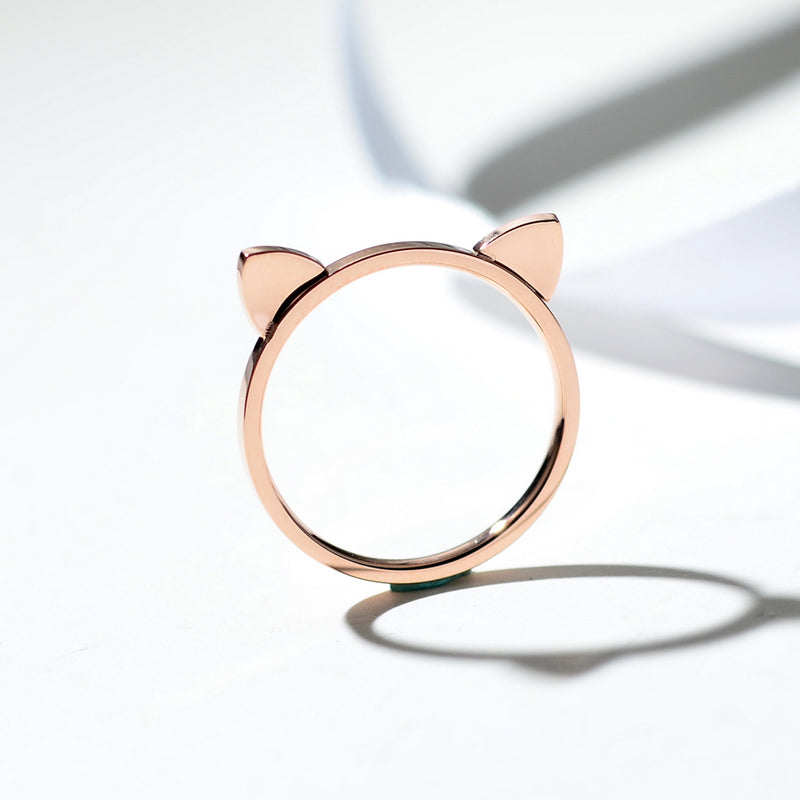 Rose Gold Cat Ring - Kitty Kraze