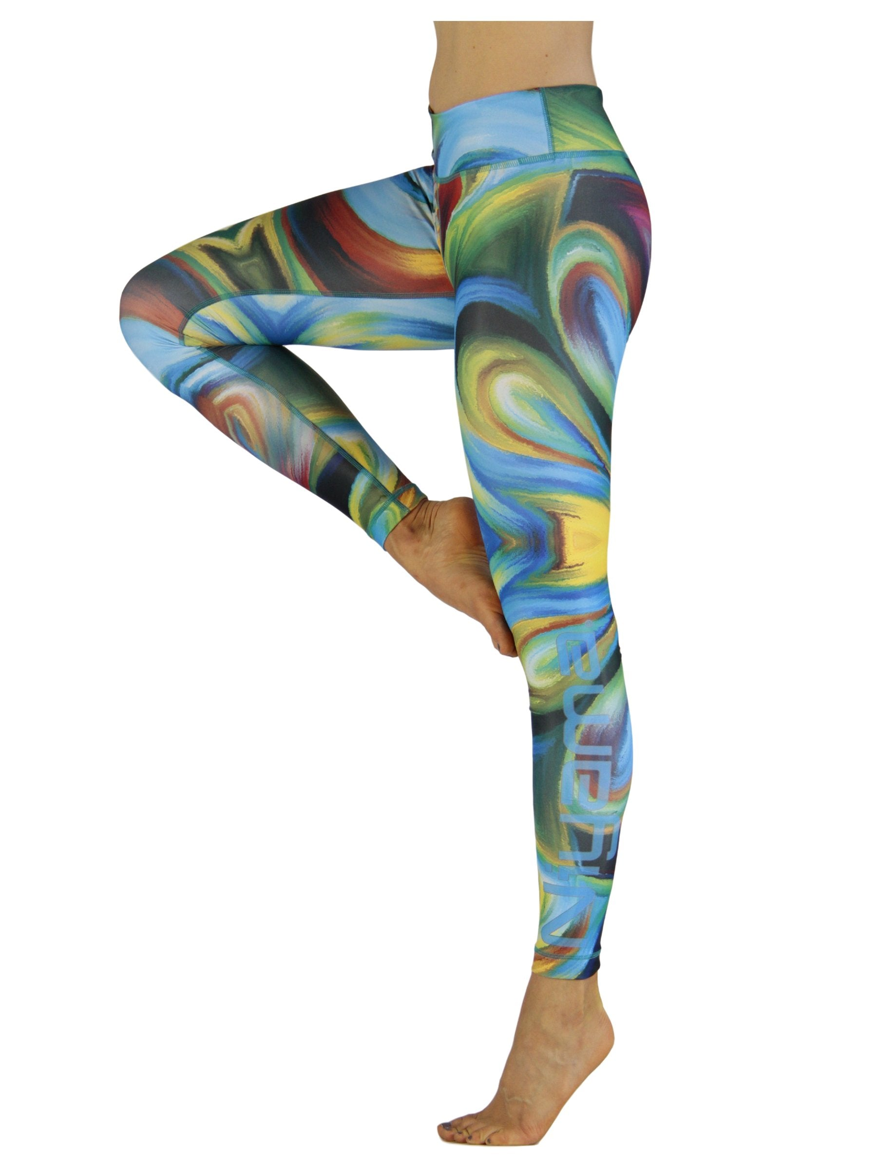 Acrylic Storm by Niyama - High Quality, Yoga Legging for Movement Artists.