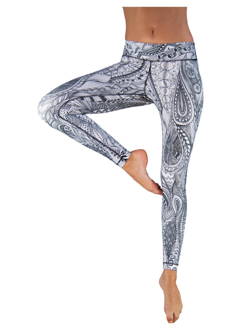 Zentangle by Niyama - High Quality, Yoga Legging for Movement Artists.