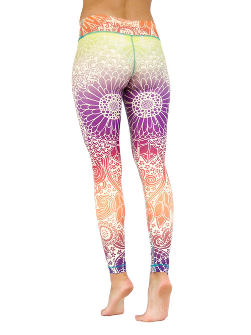 Tender Tulips by Niyama - High Quality, Yoga Legging for Movement Artists.