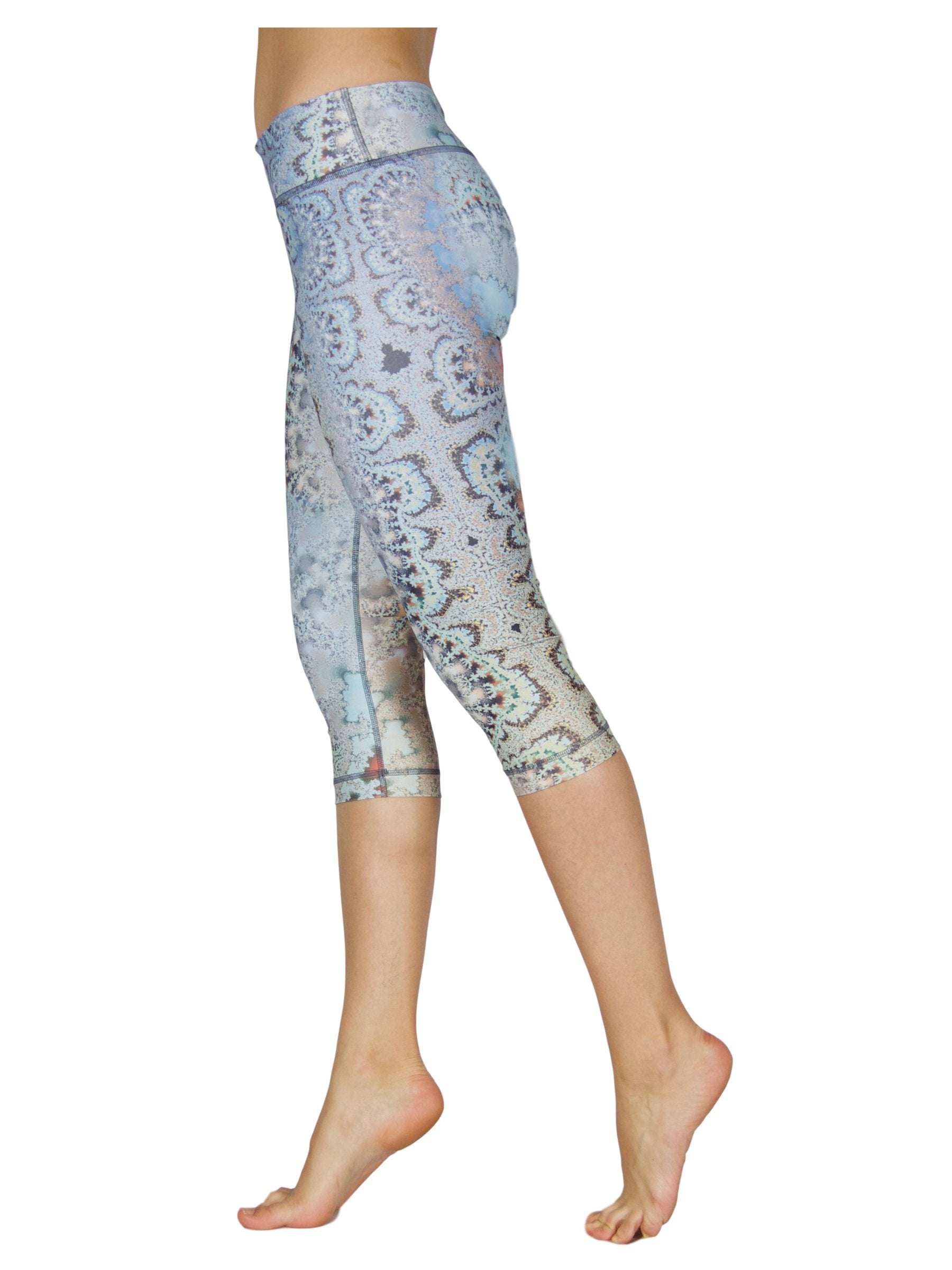 Blue Crystal by Niyama - High Quality, , Yoga Legging for Movement Artists.