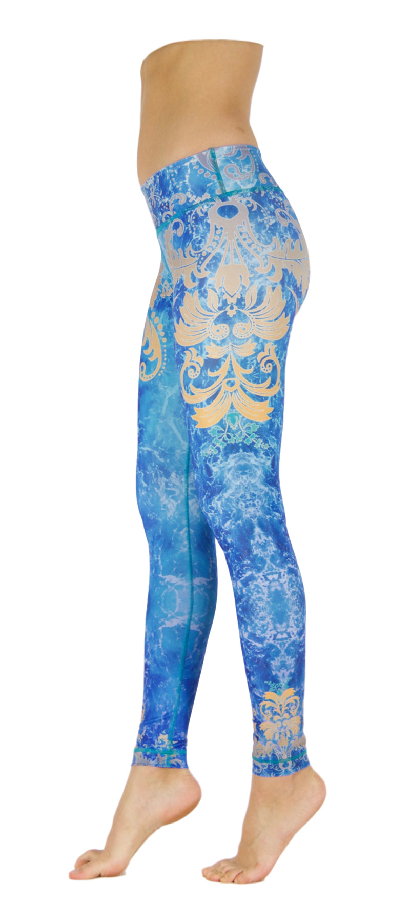 Golden Leaves by Niyama - High Quality, Yoga Legging for Movement Artists.