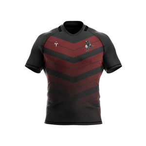Black Monks Rugby Standard Fit Jersey