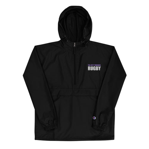 Thunder Rugby Embroidered Champion Packable Jacket