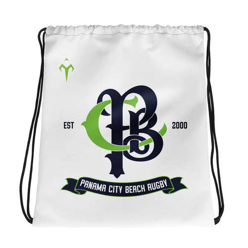 Panama City Beach Rugby Drawstring bag