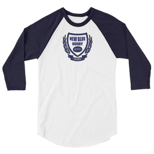 New Blue Rugby 3/4 sleeve raglan shirt
