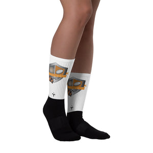 WPU Black foot socks
