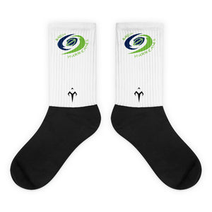Bayou Hurricanes Black foot socks