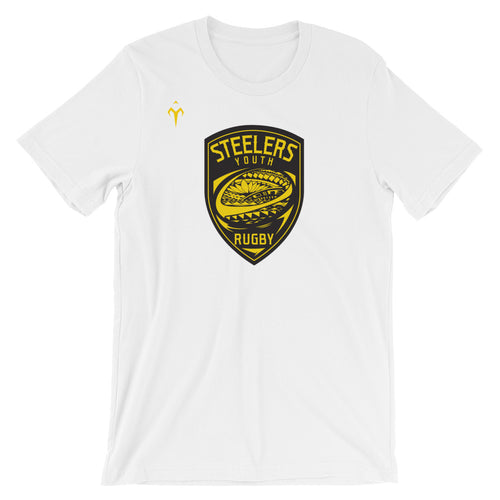 Provo Steelers Youth Rugby Bella + Canvas 3001 Unisex Short Sleeve Jersey T-Shirt with Tear Away Label