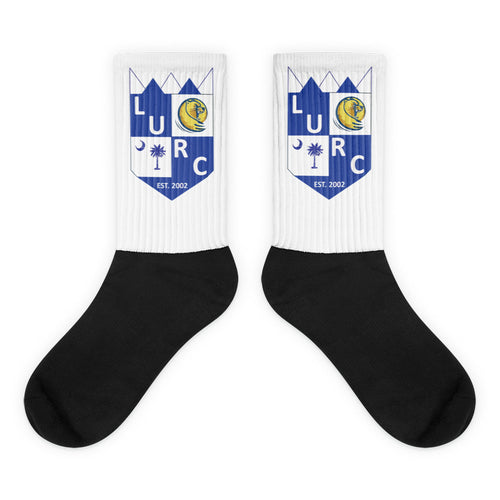 Lander Black foot socks