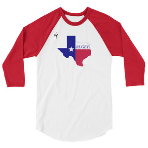 Texas Rugby 3/4 sleeve raglan shirt