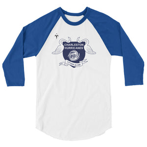 Charleston Hurricanes Rugby 3/4 sleeve raglan shirt