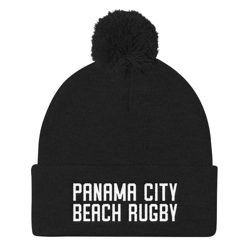 Panama City Beach Rugby Pom Pom Knit Cap