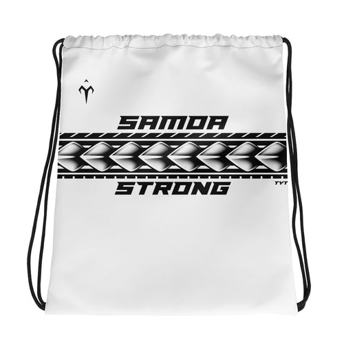 Samoa Strong Drawstring bag
