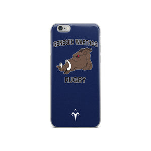 Geneseo Warthog Rugby iPhone Case