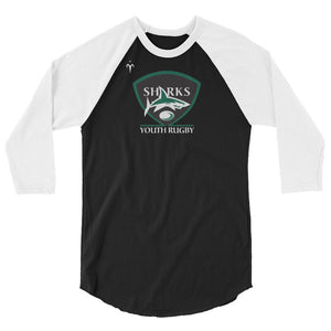 Central Coast Sharks Rugby 3/4 sleeve raglan shirt