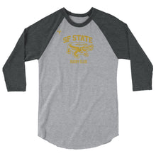 San Francisco State University Rugby 3/4 sleeve raglan shirt