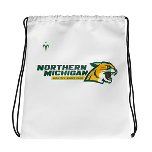 Northern Michigan Rugby Women's Club Rugby Drawstring bag