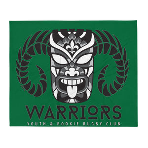 Warrior Rugby Throw Blanket