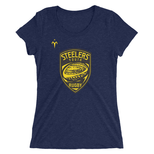 Provo Steelers Youth Rugby Bella + Canvas 8413 Ladies' Triblend Short Sleeve T-Shirt with Tear Away Label