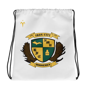 Moosemen Rugby All-Over Print Drawstring Bag