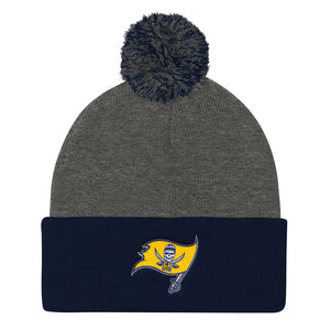 Grand Haven Rugby Flag Pom Pom Knit Cap