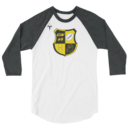 Council Bluffs Rugby 3/4 sleeve raglan shirt