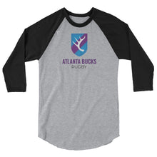 Atlanta Bucks Rugby 3/4 sleeve raglan shirt