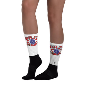 SRJC Black foot socks