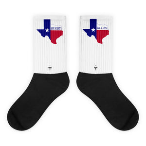 Texas Rugby Black foot socks