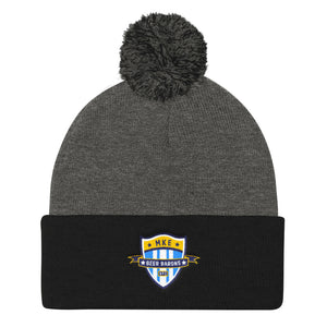 Beer Barons Rugby Pom Pom Knit Cap