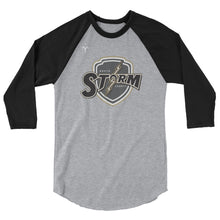 North County Storm Rugby 3/4 sleeve raglan shirt