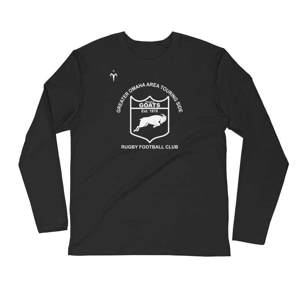 Omaha G.O.A.T.S Rugby Long Sleeve Fitted Crew