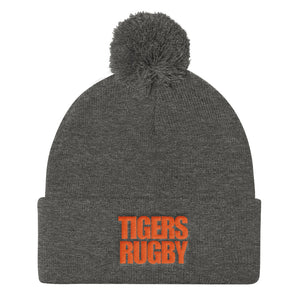 North Texas Tigers Rugby Pom Pom Knit Cap