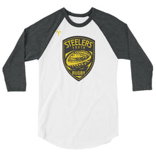 Provo Steelers Youth Rugby Tultex 245 Unisex Fine Jersey Raglan Tee w/ Tear Away Label
