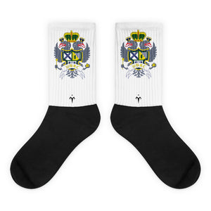 Georgia College Black foot socks