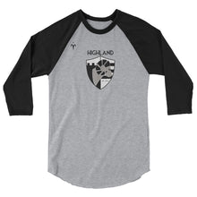 Highland 3/4 sleeve raglan shirt
