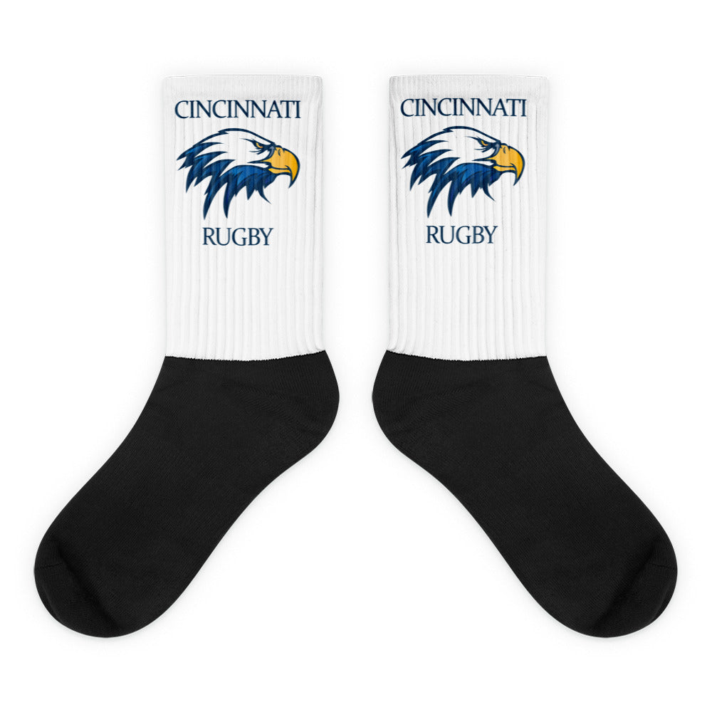 Cincinnati Rugby Black foot socks
