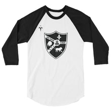 Fort Wayne Rugby Black 3/4 sleeve raglan shirt