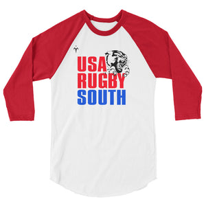 USA Rugby South 3/4 sleeve raglan shirt