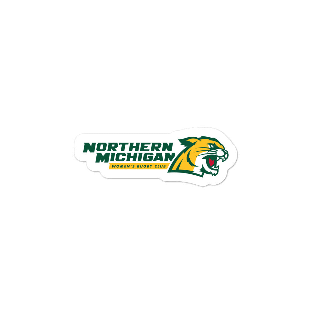Northern Michigan Rugby Women's Club Bubble-free stickers