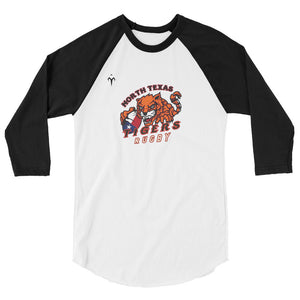 North Texas Tigers Rugby 3/4 sleeve raglan shirt