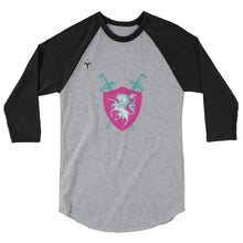 Majestic Unicorns Rugby 3/4 sleeve raglan shirt